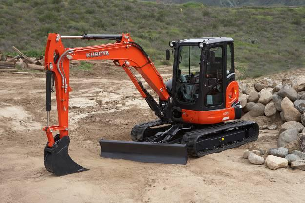 kubota u55 mini excavator rti quality rentals. Black Bedroom Furniture Sets. Home Design Ideas